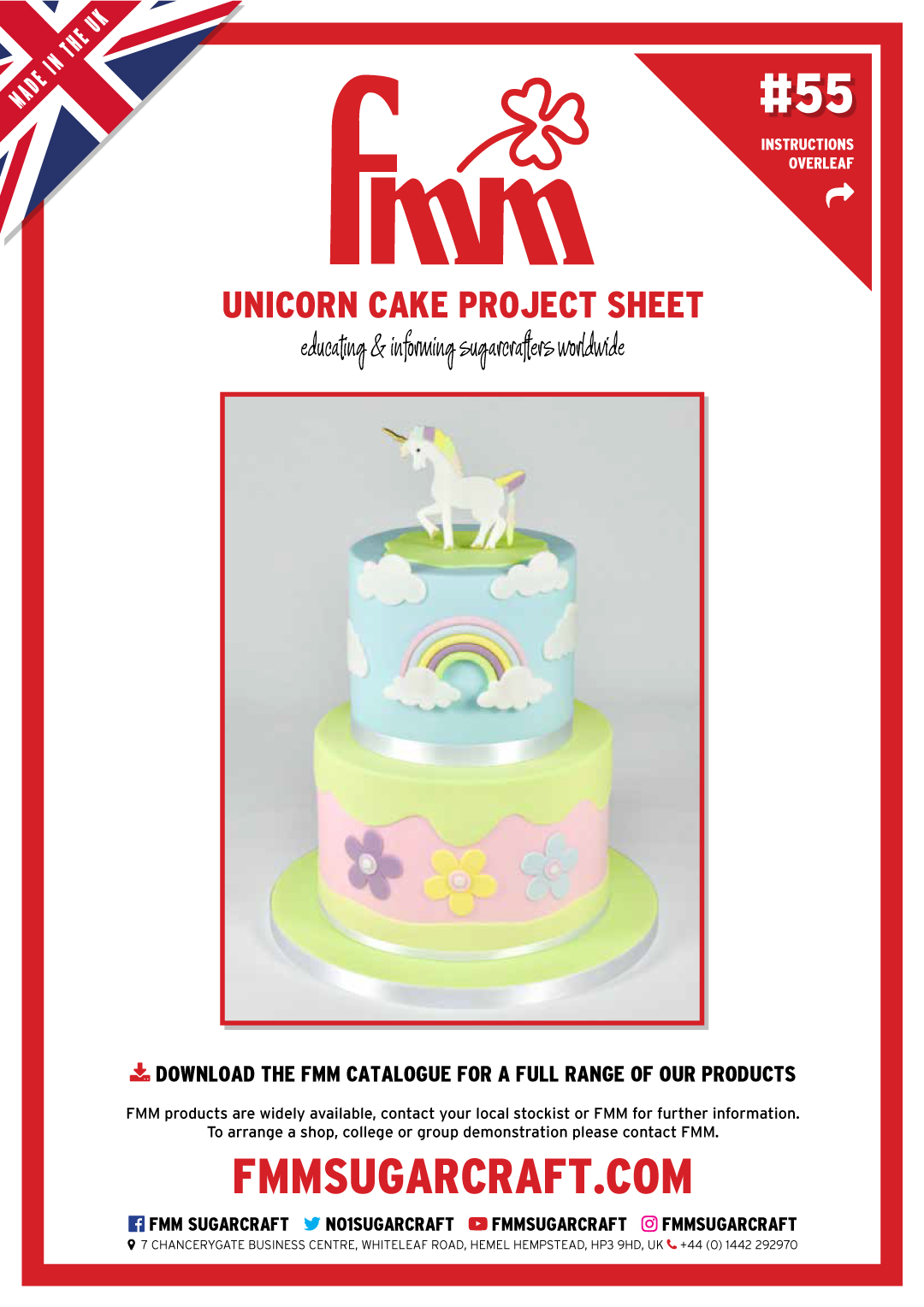 How to make a Unicorn Cake - FMM Sugarcraft Project No. 56