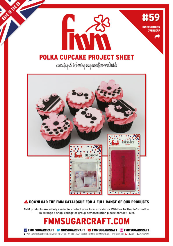 How to make a Polka Cupcake - FMM Sugarcraft Project No. 59