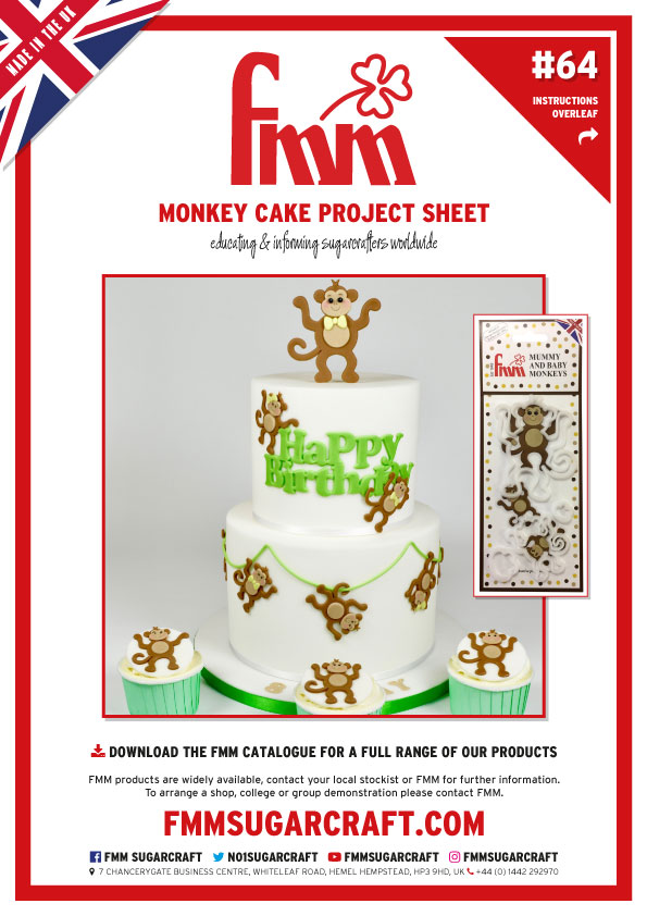 How to make a Monkey Cake - FMM Sugarcraft Project No. 64