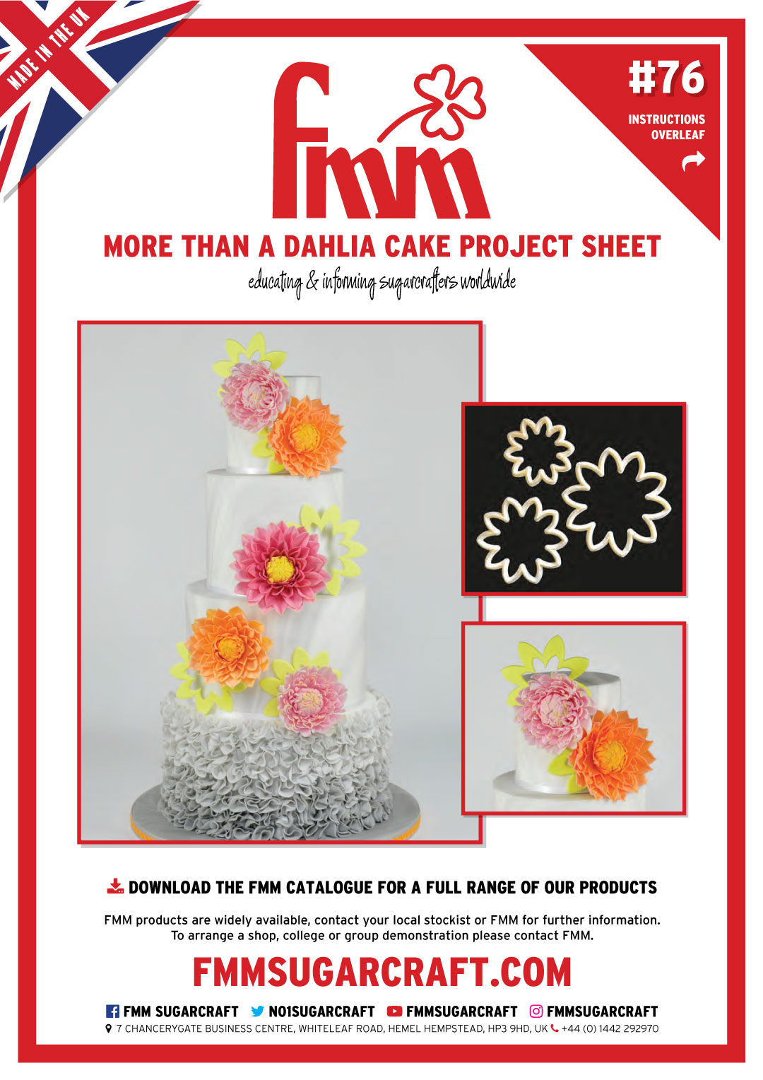 More than a Dahlia, Project Sheet 76
