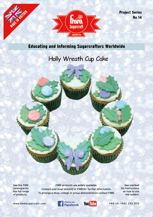 Holly Wreath Cup Cakes