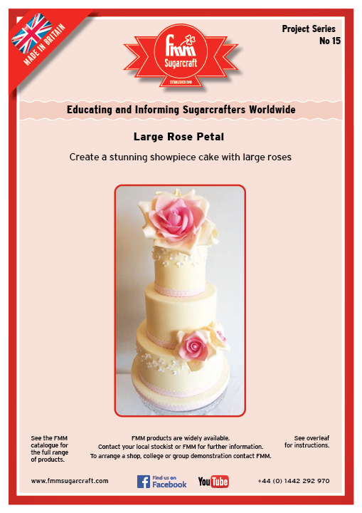 Large Rose Petal - FMM Sugarcraft Project No. 15