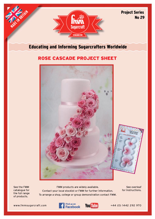 Rose Cascade Cake, Easiest Rose Ever FMM Cutters
