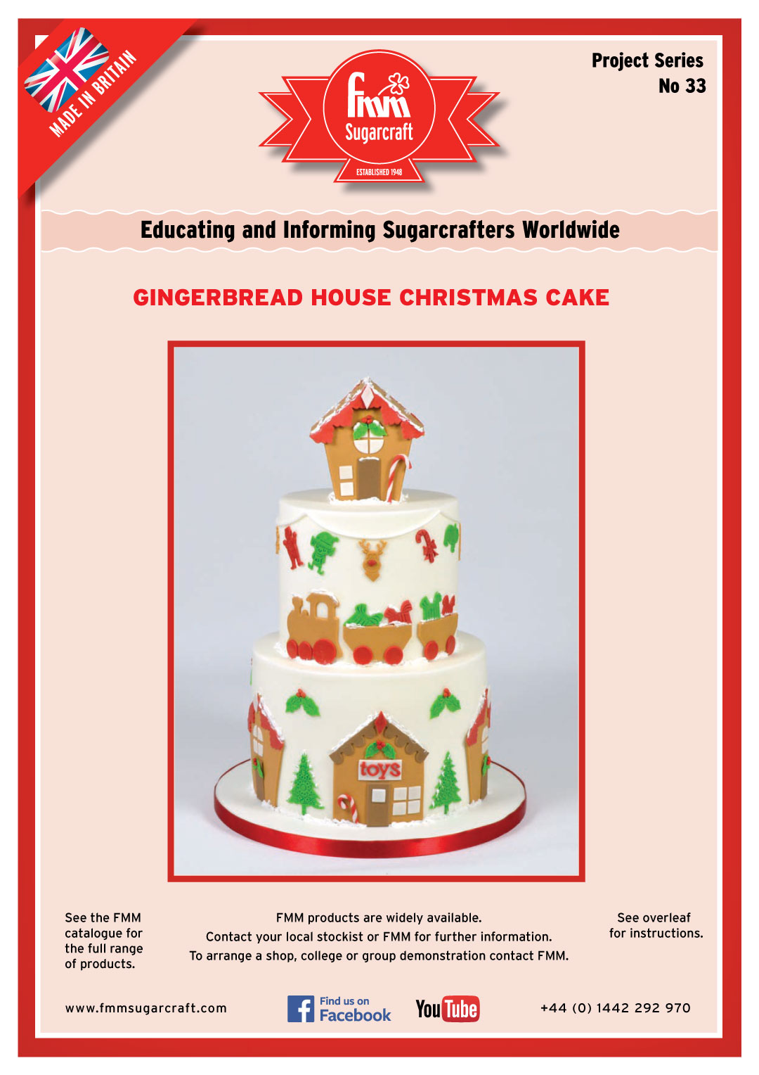 Make a Gingerbread House Christmas Cake