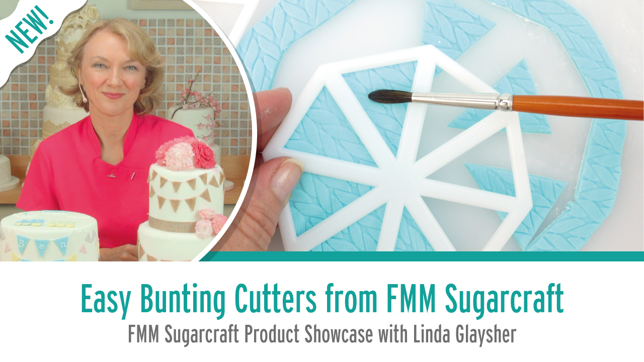 How to use the Easy Bunting Cutters from FMM-Sugarcraft