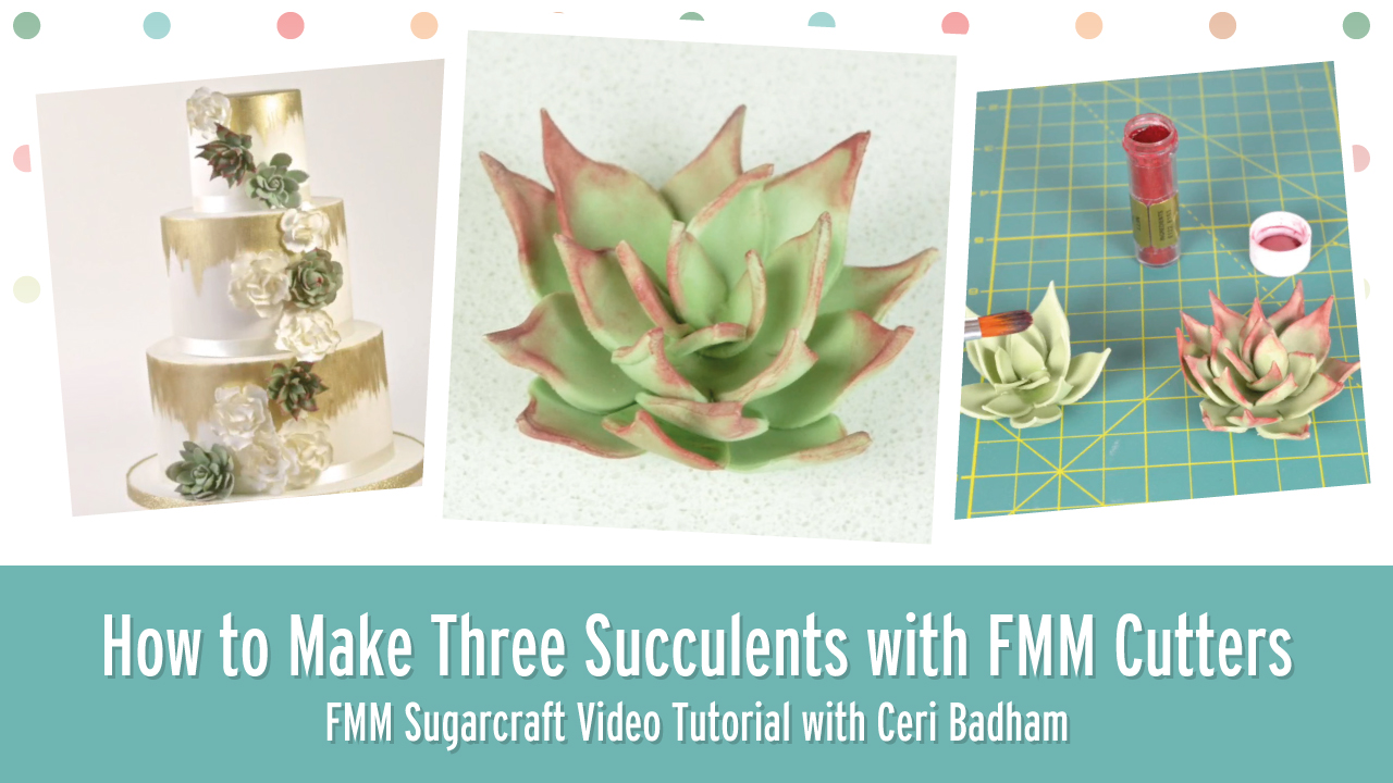How to make Three Succulents with FMM Sugarcraft Cutters
