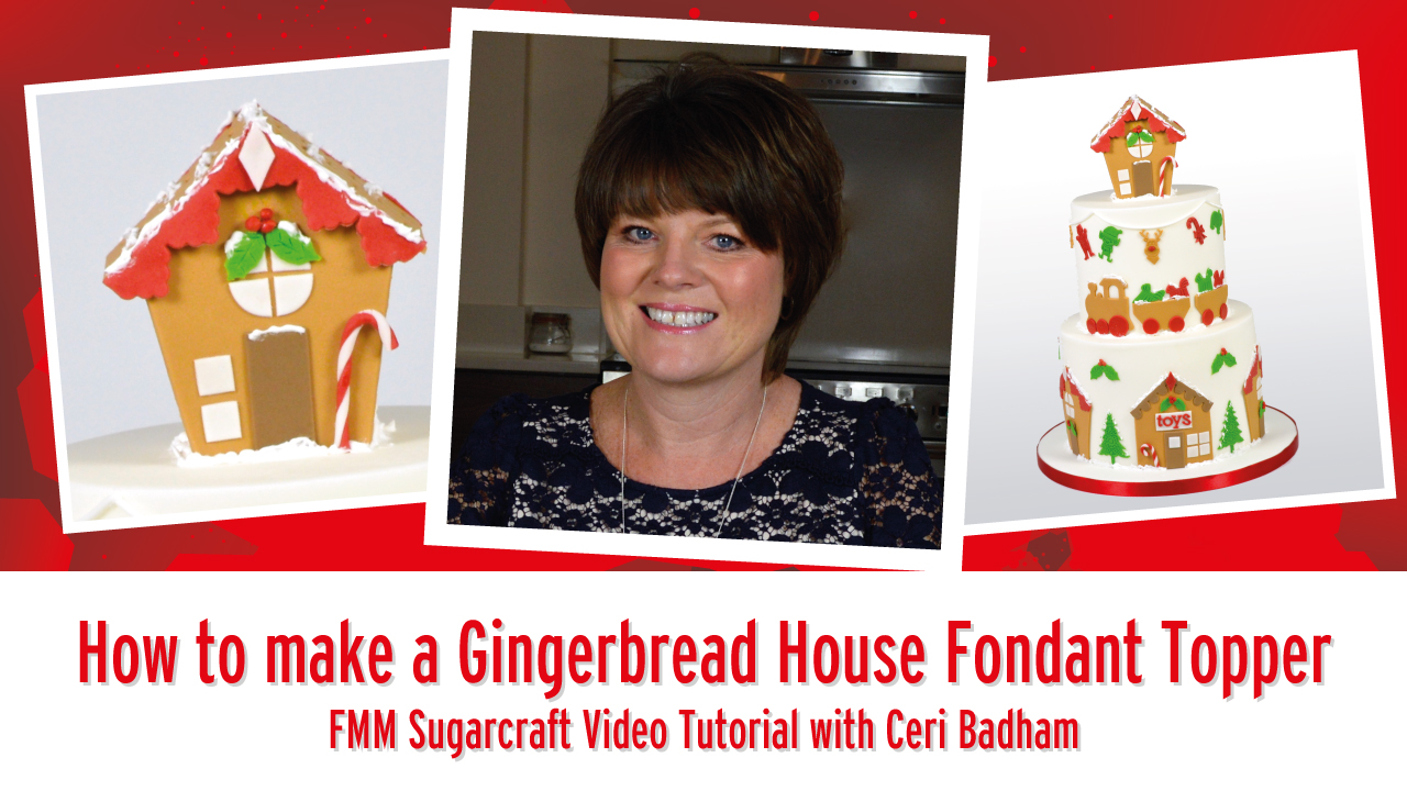 How to make a Gingerbread House Inspired Fondant Topper with FMM Products
