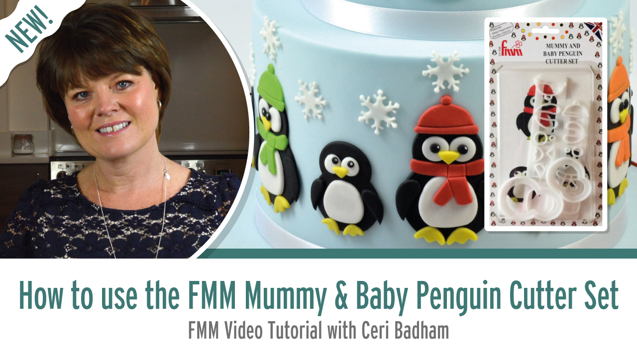 How to use the FMM Mummy and Baby Penguin Cutter Set with Ceri Badham