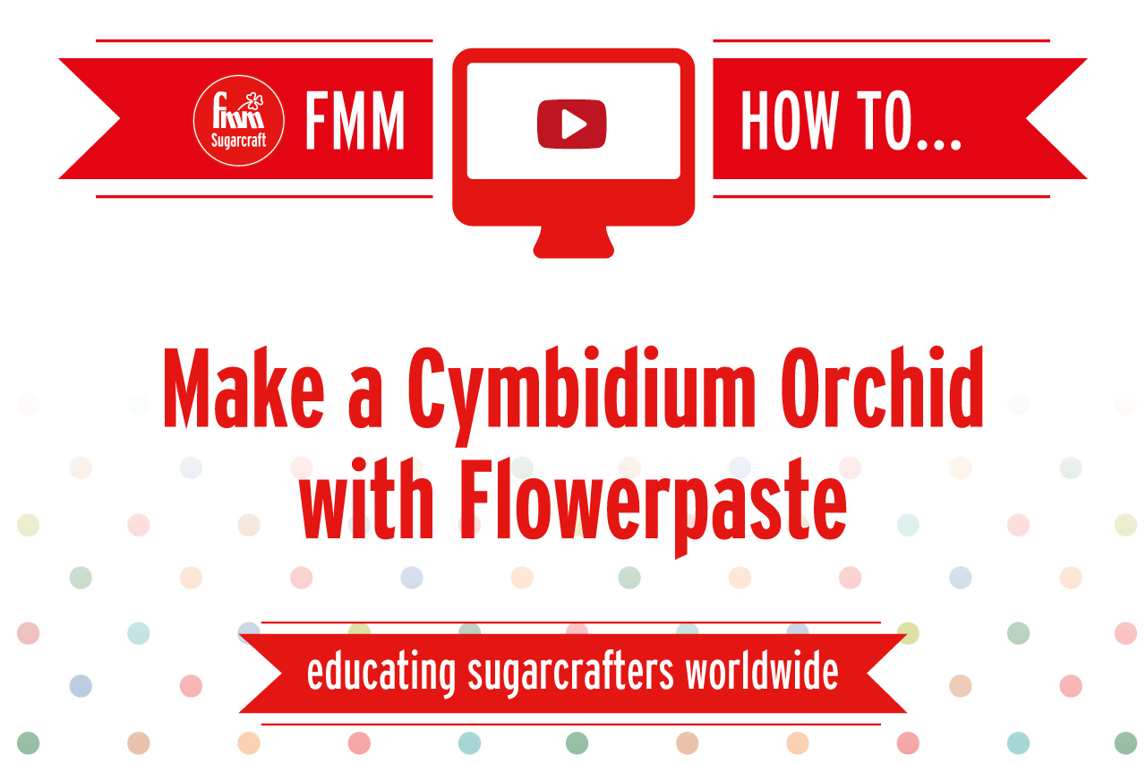 Make a Cymbidium Orchid with Flowerpaste