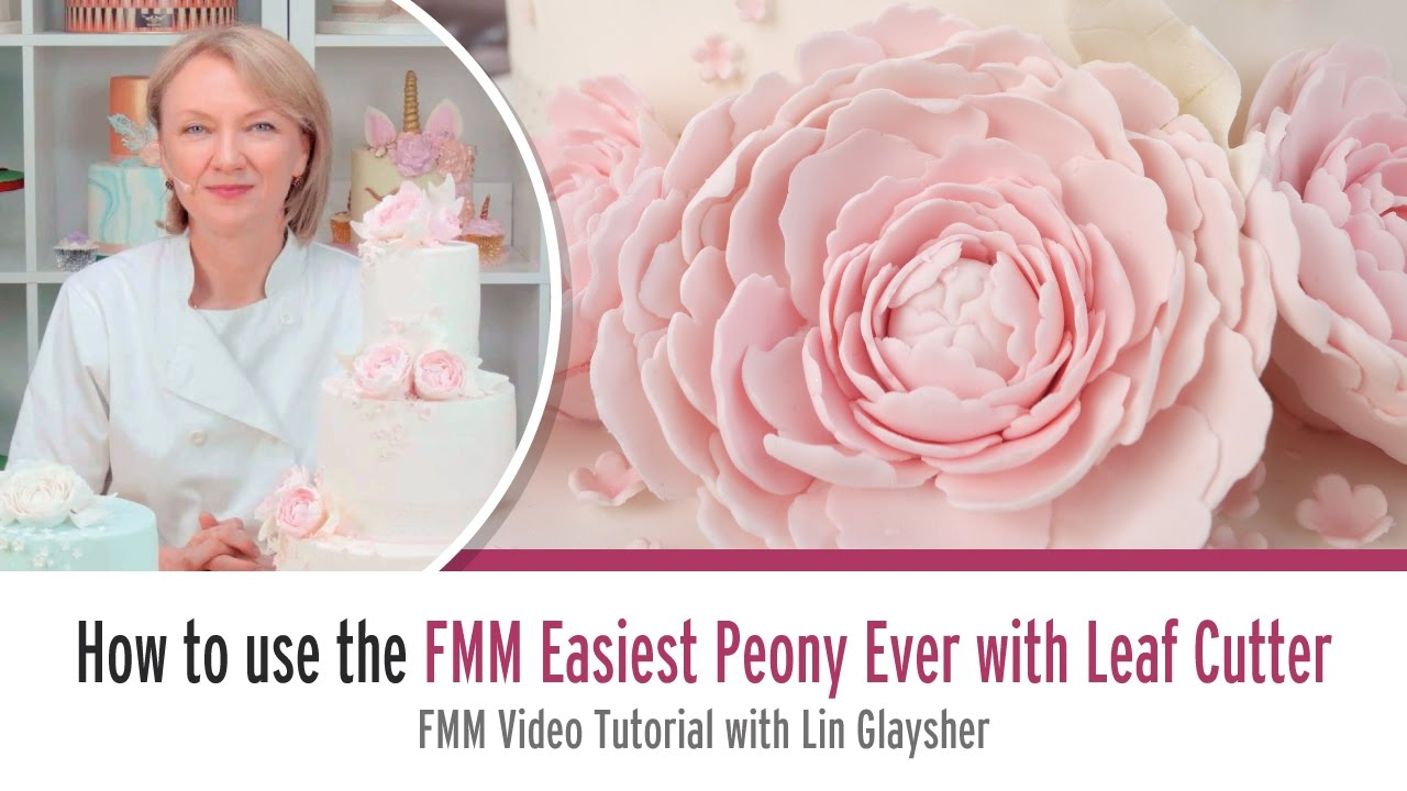 How to use the FMM Easiest Peony Ever with Leaf Cutter with Ceri Badham