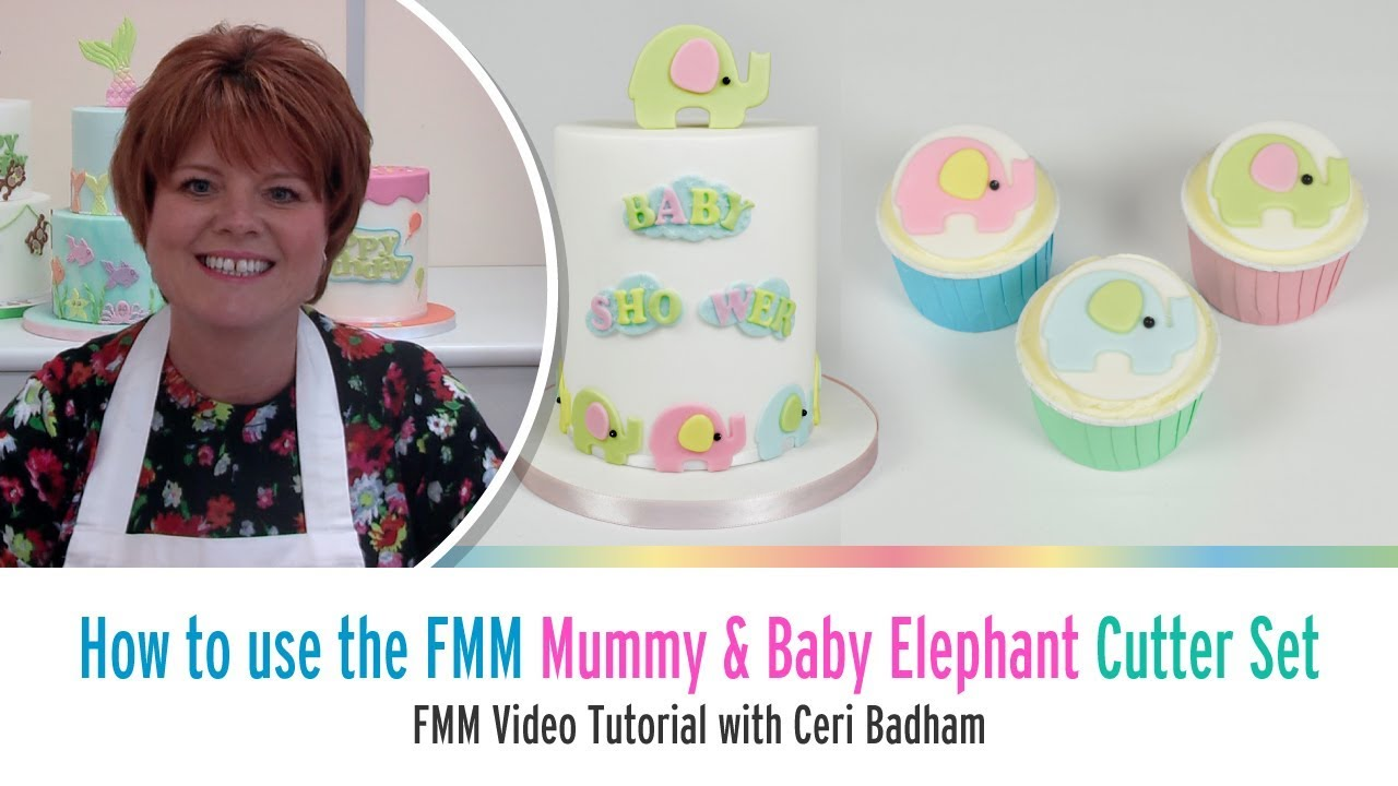 How to use the FMM Mummy & Baby Elephant Cutter Set
